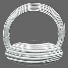 Silver Aluminum Wrapping Wire 45 Feet Wholesale Lot 12 Gauge Round Jewelry Craft