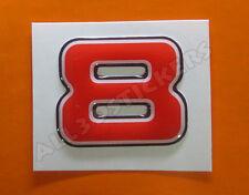 Pegatina Numero 8 3D Color Rojo Tamaño 25mm
