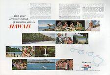 1962 United Airlines PRINT AD Various Hawaiian Scenes Natives