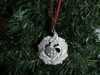 Swedish Pewter Christmas Ornament Tennesmed Sweden Heart Basket Wreath #J-330