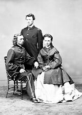 George A. Custer seated with wife, Elizabeth Custer, brother Thomas W. Custer