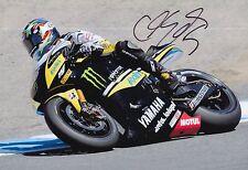 Colin Edwards mano firmado Tech 3 Yamaha 12x8 Foto MotoGP.