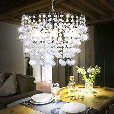 Lampe Pendentif cristal de luxe salle à manger clair lustre métal pendentif E14
