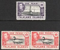 Falkland Islands1938 part set mint  SG147/147a/148a (3)