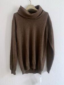 100% Kaschmir Brauner Pullover NEU! M/L London - James Alexander