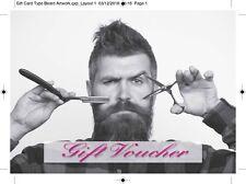 Barber blank gift voucher/card x10 plus envelopes !!!