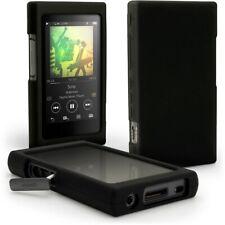 Tuff Luv Silicone Protection Étui Compatible avec Sony Walkman A45 - Noir