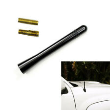 Universal Black Car Auto Short Stubby Antenna Aerial AM/FM Radio Mast + Screw