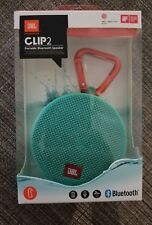 JBL Clip 2 Portable Bluetooth Speaker TEAL!! New Sealed