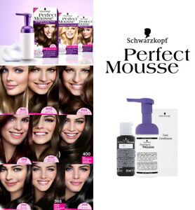 Schwarzkopf PERFECT MOUSSE Foam Coloration No Ammonia Permanent Hair Dye