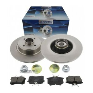 Brake Discs + Pads Rear For Renault Grand Scenic 2 II With Wheel + ABS Ring