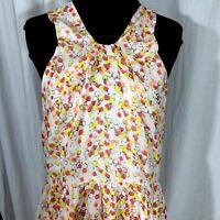 I Love Ronson Dress Cheetah Spot Orange Yellow Zip Side Lined New