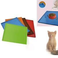 Cat Mat Dog Pet Feeding Water Food Dish Tray Wipe Floor Clean Placemat D9D0