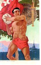 Riproduzione Cartolina Sport 1911 Concorso Ginnastico Internazionale Torino