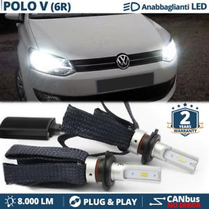 Kit Lampadine LED per VW POLO 6R Anabbaglianti H7 Luce Bianca CANbus 6500K 8000L