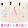 BABY NAME INITIALS SOFT TPU PERSONALISED CLEAR SILICONE GEL PHONE CASE IPHONE