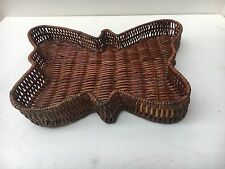 Unique Hand Crafted Retro Cane Basket Tray
