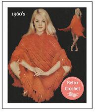 1960's Crochet Poncho Pattern Copy
