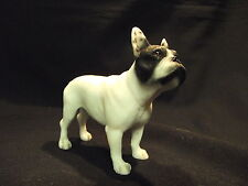 Statue de collection LEONARDO -  BOULEDOGUE FRANCAIS BLANC ET NOIR