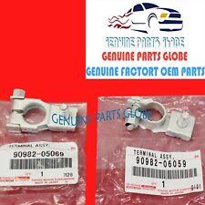GENUINE TOYOTA 4RUNNER FJ CRUISER LEXUS GX460 + & - BATTERY TERMINAL SET OF 2
