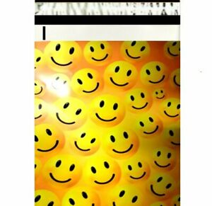 1-1000 6x9 ( Happy Faces ) Boutique Designer Poly Mailer Bags Fast Shipping