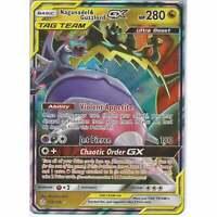 158/236 Naganadel & Guzzlord TAG TEAM | Rare Holo GX Card Cosmic Eclipse Pokemon