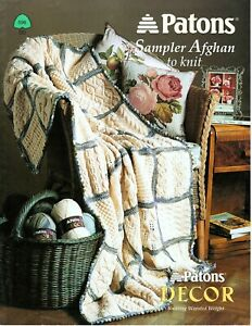 Patons - Sampler Afghan to Knit - 14 Patterns for 1 Afghan