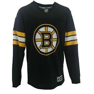 Boston Bruins NHL Reebok Kids Youth Size Jersey Style Long Sleeve Shirt New Tag