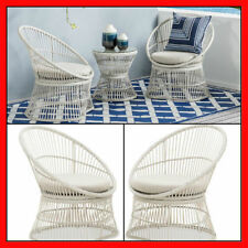 Wicker 3 Piece Outdoor Furniture Set Setting Patio Balcony Table Chairs Garden