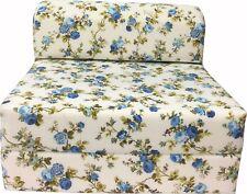 Twin Portable Flip Sleeper Chair Folding Foam Beds, 6x32x70 Blue Roses