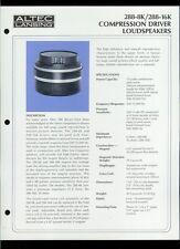 Rare Original Factory Altec 288-8K/16K Compression Driver Dealer Sheet Page