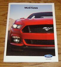 Original 2015 Ford Mustang Sales Brochure 15 V6 GT Premium EcoBoost