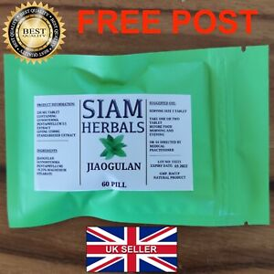 60 Jiaogulan Gynostemma Super Herb of immortality, 100% Pure Natural tablets