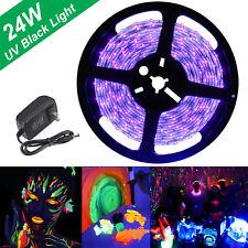 16.4FT UV Rope Lights Black LED Strip Design Blacklight Kit Waterproof SMD Party