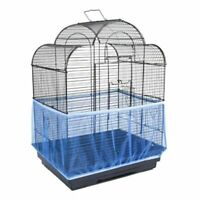 Birdcage Cover Catcher Nylon Mesh Birds Cage Skirt Easy Cleaning Ventilated
