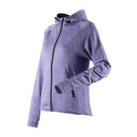 Womens Running Hoodie Reflective Hooded Long Sleeve Top Sports Light Jacket