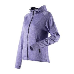 Ladies Long Sleeve Hoodie Fleece Top Lightweight Zoodie Zip Up Thumb Hole Comfy
