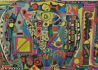 Signiert datiert 88 - Abstrakte Komposition