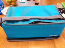 Case Logic 60 Cassette Tape Carrying Case Double Sided Padded Storage Bag teal