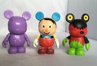 Lot of 3 Disney Vinylmation Urban Series Dan Howard Pinocchio Purple Mickey Gear