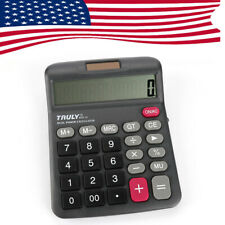 US 12Digits Truly 833-12 Desk-Top Calculator Dual Power Power Switch Office Home