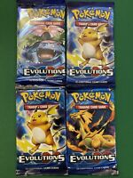 Pokémon TCG- XY Evolutions- Booster Pack Lot Of 4