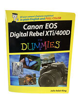 Canon EOS Digital Rebel XTi/400D For Dummies by King, Julie Adair Paperback The