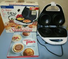 Sunbeam Electric Pie Maker # 4805 2-Teflon Coated Mini Pies & Recipe Book