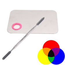 Pro Cosmetic Makeup Nail Eye Shadow Mixing Palette With Stainless Spatula Tool