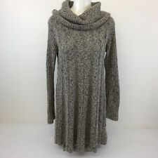 Phase Eight Womens Grey Roll Neck Chunky  Knit Long Jumper | Size 14 Wool Mix |