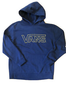 Vans navy blue hoodie- kids XL. Yellow Spell out.  Surf Style