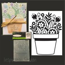 Darice embossing folders FLOWERS IN POT Cuttlebug compatible folder 1219-403