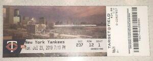 7/23/19 New York Yankees TWINS Cruz #381 Sano #99 #100 HR Full Scan Ticket Stub