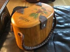 Vintage Emile Robichaud wooden purse creel signed